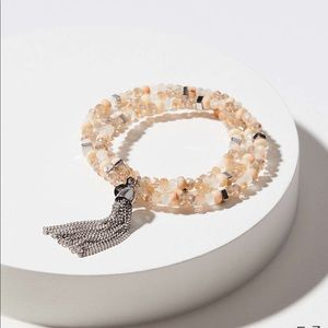 Loft chain tassel Stretch Beaded Bracelet Set
